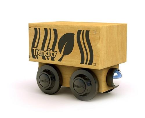 Imagen 1 de 8 de Trencity Vagón Container - Col. Greenpolice - Tienda Oficial