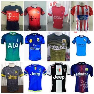 Kit 4 Camisas De Times Europeus E Brasileiros.