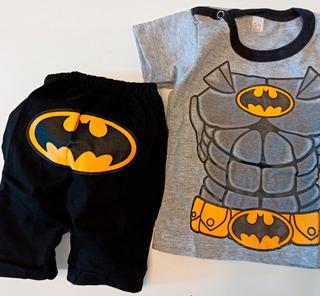 Set Conjunto Ajuar Bebe Verano Batman Baby Y+ Personaje Nene