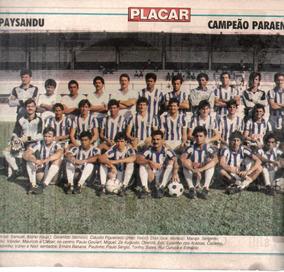Paysandu Campeão Paraense 1987 - Pôster Da Placar