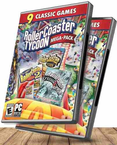 Rollercoaster Tycoon Megapack Clasico 3 En 1 - Juegos Pc