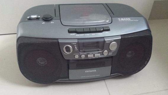 Mini System Portátil Aiwa Cd Player Gravador Cassete Csd-td9