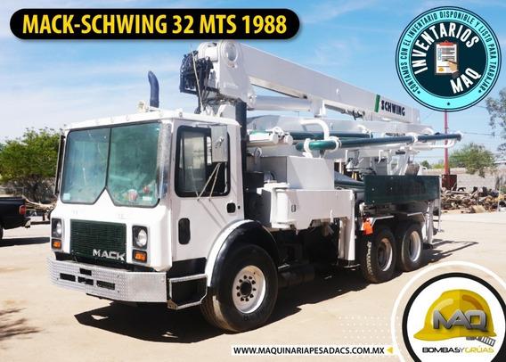 Mack - Schwing 32 Mts 1988 Bomba De Concreto