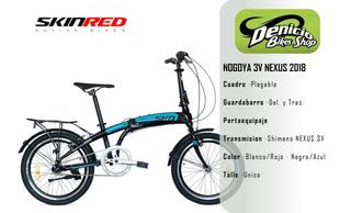 Bicicleta Plegable Skinred Nagoya 3v 2018