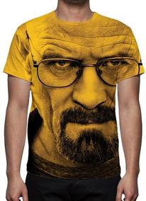 Camiseta Série Breaking Bad - Heisenberg Face- Promoção