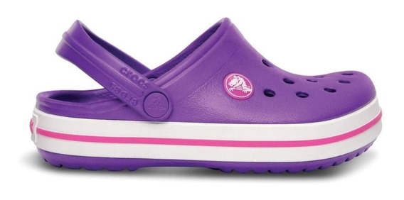 Zuecos Crocs Crocband Vio/ros De Niñas