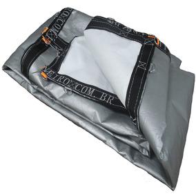 Super Lona Branca Prata 9x6 Pppe 500 Micra Com Argolas Inox
