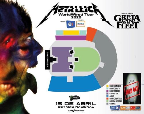 Entrada A  Metallica Cancha General
