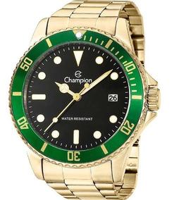Relógio Champion Masculino Dourado Verde Original Ca31266m