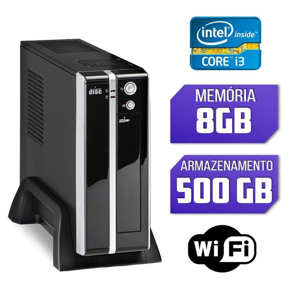 Mini Pc Intel Core I3, 8gb Ram, Hd 500, Wifi E Windows