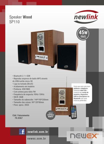 Caixa De Som Bluetooth 45 W