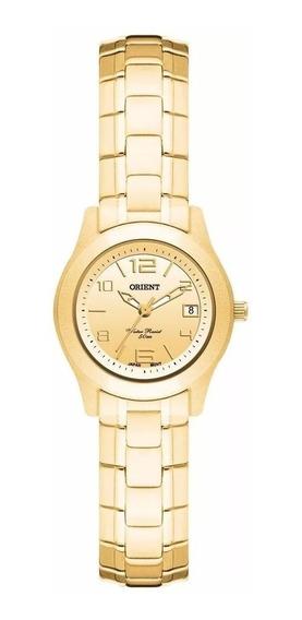 Relógio Orient Feminino Dourado Original C/nf Fgss1025 C2kx