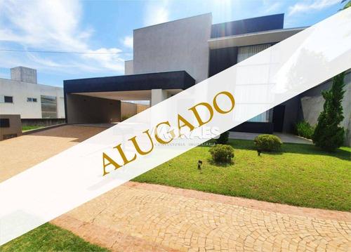 Imagem 1 de 24 de Alugado Por Moraes Locação - Casa Com 4 Dormitórios, 380 M² Por R$ 7.000/mês - Residencial Lago Sul - Bauru/sp - Ca1217