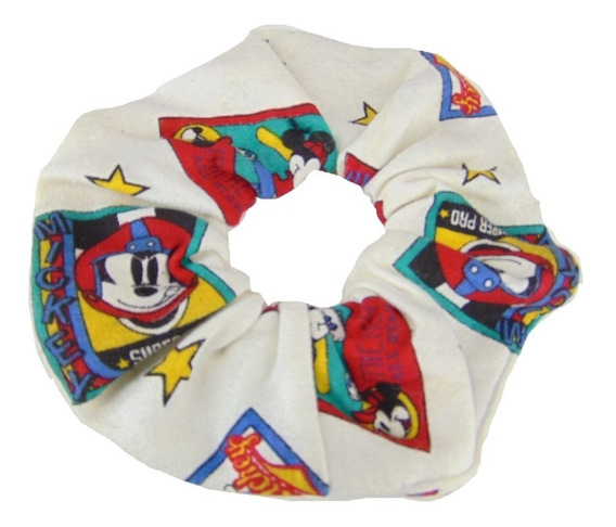Vintage Scrunchie Dona Cabello Mickey Mouse Deportivo