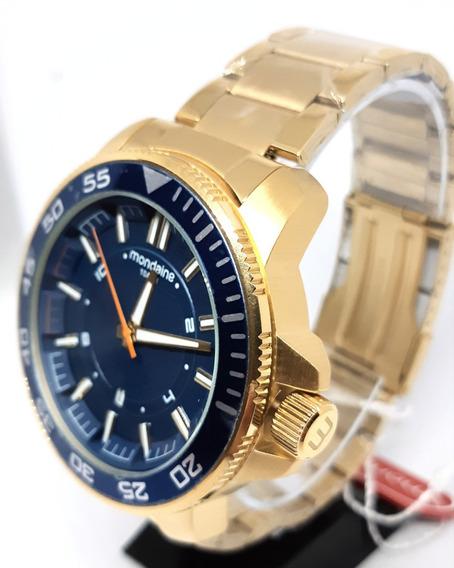 Promoção Relógio Mondaine Banhado A Ouro 53644gpmvds1