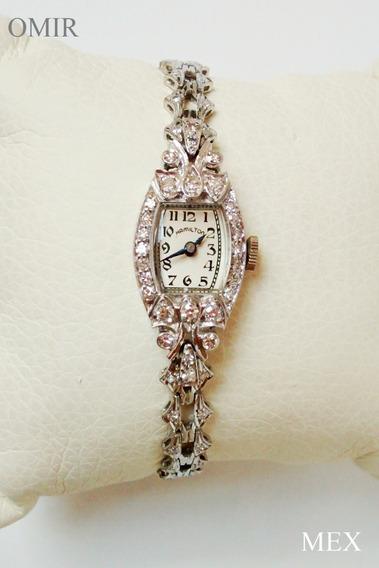 Reloj Hamilton Diamantes Platino Suizo Vintage Video