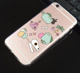 Gato iPhone 7 Funda Carcasa Dinosaurio Kawaii Lagarto