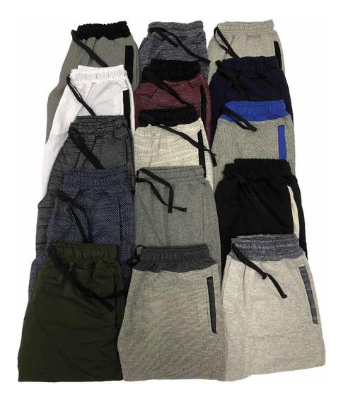 Bermuda Moleton Shorts Masculina Kit 6 Pcs Frete Grátis