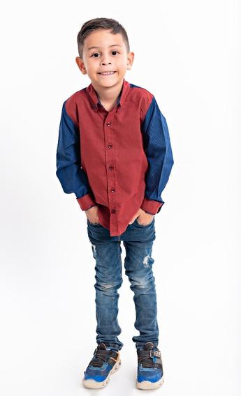 Camisa Para Niños Elegante . Nicolas Leroi En Descuento