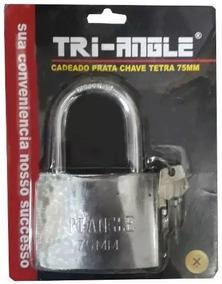 Cadeado 75mm Gigante Grande Tetra Chave Triangle Uso Geral