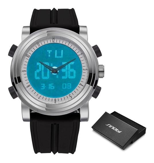 Relógio Sinobi 9368 Digital Multifuncional Prova D