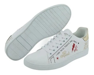 Tenis Blancos I Love Tacos Tequila And Party 017666