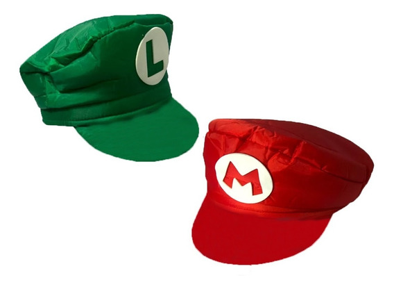 Boné Mario Bros + Boina Luigi Chapéu Cosplay Pronta Entrega