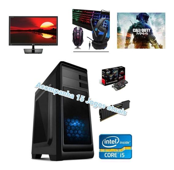 Pc Gamer Completo I5 / 8gb Ram /1 Tb/ R7 370 4gb/ Ssd 120