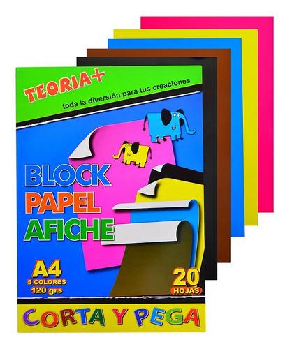 Block A4 Afiche 120g X 20 Hojas Teoría+