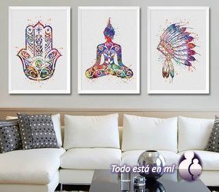 Set De 3 Cuadros Decorativos Motivacionales
