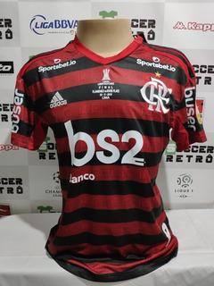 Camisa Flamengo Final Libertadores 2019 Gabriel B 9 À P/ Ent