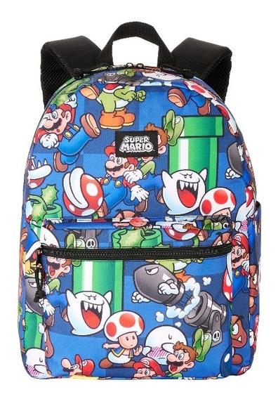 Bolso Morral Escolar Super Mario Bross Niños