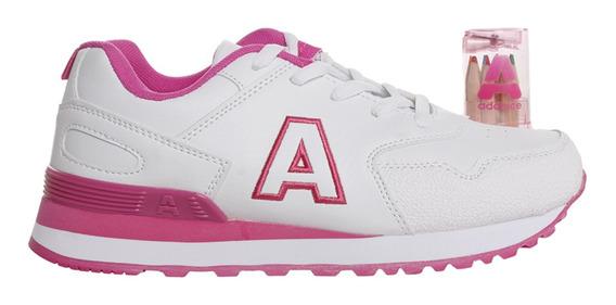 Zapatillas Addnice Classic R.cordon + Lapicero Mujer Bl/fu
