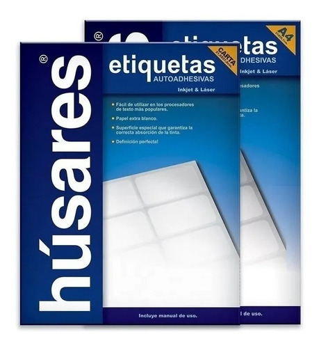 Etiquetas Autoadhesivas Husares H34121 A4 6,35 X 3,81 100h