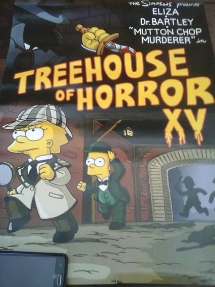 Poster Los Simpson (especial Terror)