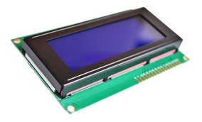 Display Lcd Backlight 2004 20x4 Módulo 5v Tela Azul Branco