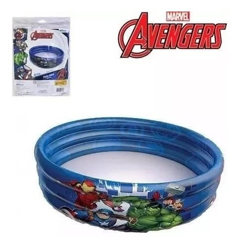 Piscina Inflavel 3 Aneis 115l Avengers Vingadores 83x25cm