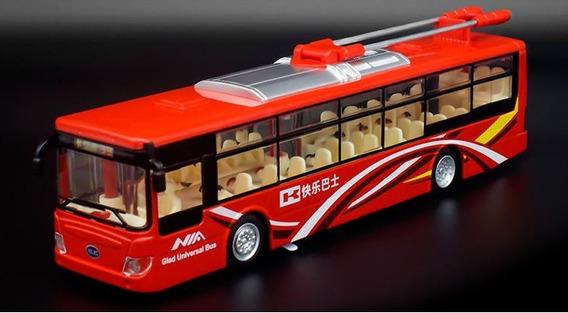 Miniatura Diecast Ônibus Elétrico Urbano Escala 1/50