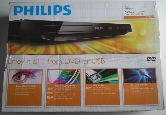 Dvd Philips Dvp3850k Com Usb, Cd, Divx E Karaokê Novo Raro