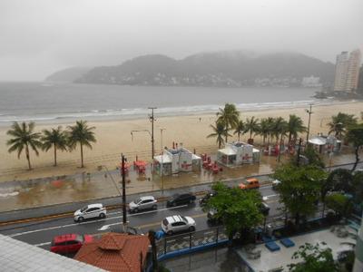 São Vicente-gonzaguinha-1 Dorm-duplex -frente Mar-excelente!
