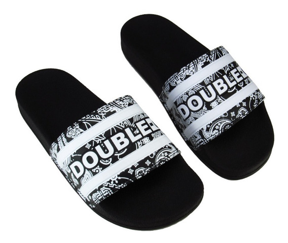 Chinelo Double-g Slide Preto Pasley
