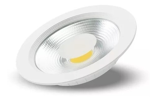 Kit C/6 Luminária Embut Downlight Led Cob 30w-2400 Lumens