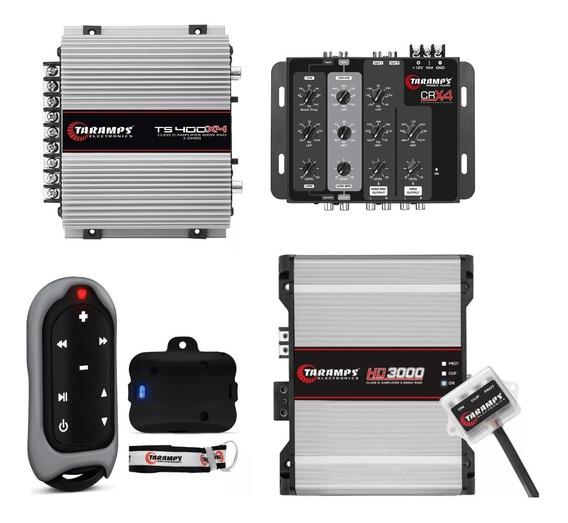 Crossover Crx4 + Hd3000 2ohm + Ts400x4 + Tlc3000 Taramps