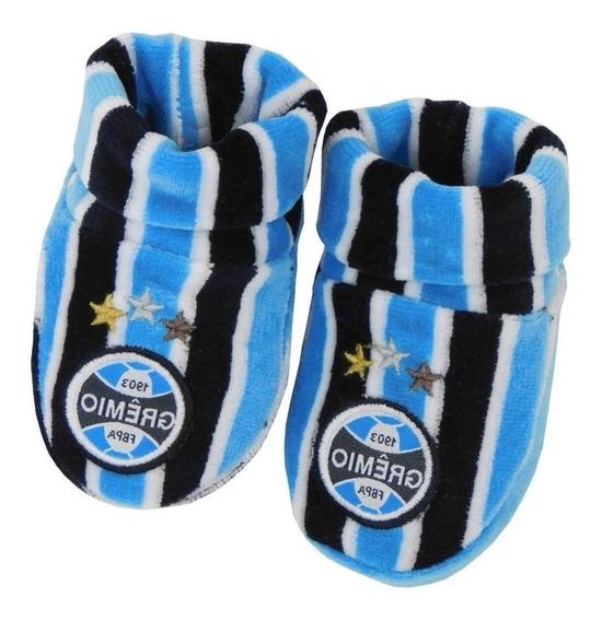 Sapatinho Do Gremio Bebe Tricolor Meia Pantufa Grêmio Bebê