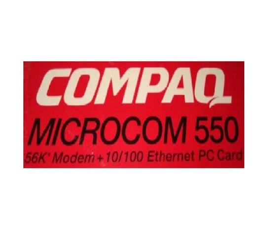 Compaq Microcom 550 10/100 Ethernet Pc Card P/n 321550-011
