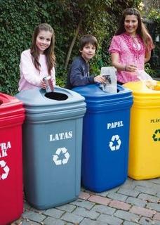 Basureros Para Reciclaje (5 Unidades) - Envío Gratis!!!