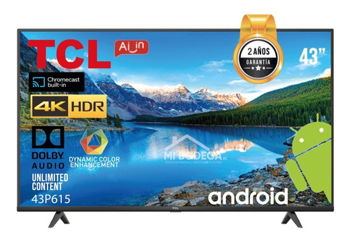 Televisor Tcl De 43 Pulgadas 4k Sistema Android 2021