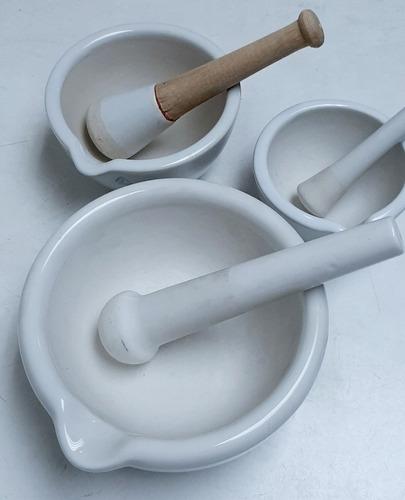 Mortero Con Mazo De Porcelana Varias Medidas