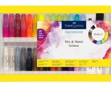 Faber Gelatos Mix 28 Tons De Puro Pigmento Retratil 33 Peças