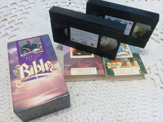 Box Fita Vhs A Bíblia.....originais 2 Fitas Vhs Importadas